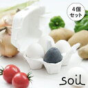 調湿脱臭剤 soil ソイル 珪藻土 ドライングエッグ 4個入 日本製 パッケージ入り ギフト 冷蔵庫 炭 調湿剤 脱臭剤 【正規品】