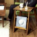 サイドテーブル Tomte トムテ TAC-239WAL ウォールナット 天然木 組立品 ベトナム製 おしゃれ 北欧 ナイトテーブル ベッドサイドテーブル ミニテーブル ソファ ソファー テーブル