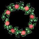 LEDローズリース(レッド) WG-2403RE 〔クリスマスイルミネーション〕【02P03Dec16】