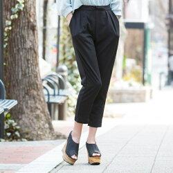 ジョガーパンツレディースパンツウエストゴムオシャレ動きやすい黒ラフカジュアルさらさら肌触り快適履き心地春夏春夏無地クロップドクロップドパンツシンプル大人カジュアル綺麗め