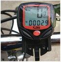 送料無料 サイクルコンピューター サイクルメーター 自転車スピードメーター 速度 走行距離 走行時間 サイクリング 有線タイプ