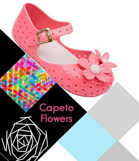 ラバーシューズラバーサンダル靴くつ子供用キッズKIDS女の子女児フラワーモチーフお花ストラップぺたん