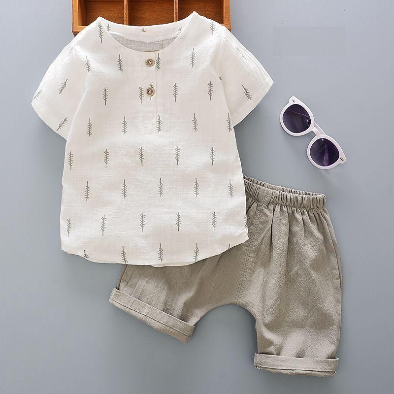 送料無料セットアップキッズ男の子ボーイセットシャツズボン半袖夏涼しいレディースシンプルおしゃれ可愛い