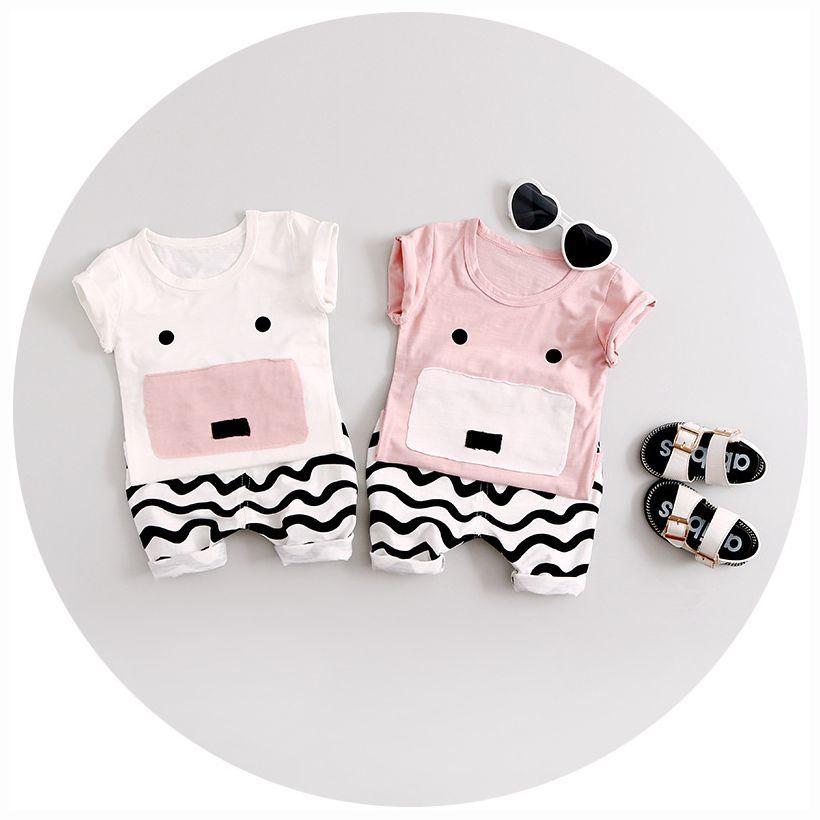 子供服Tシャツ&長ズボン半袖上下セット2点セットセットアップベビーキッズ男の子女の子アニマルデザイン