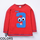 子供用カットソー トップス Tシャツ ロンT 長袖 シンプル ラウンドネック 動物 ベビー キッズ 子供服 男の子 男児 可愛い かわいい おしゃれ