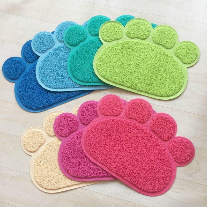 ペットマットトイレマット肉球猫ねこ30×40cmキャットカラバリ砂取りマットおしゃれかわいいキュート