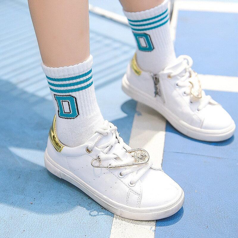 送料無料靴下ソックスキッズ子供靴下キッズソックスクルーソックスカジュアルロゴアルファベット小物シンプ