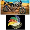 バイクホイールステッカー ホイールリムステッカー ホイールラインテープ 18インチ オートバイ 外装パーツ 装飾 カッコイイ おしゃれ カラバリ豊富 バイク用品