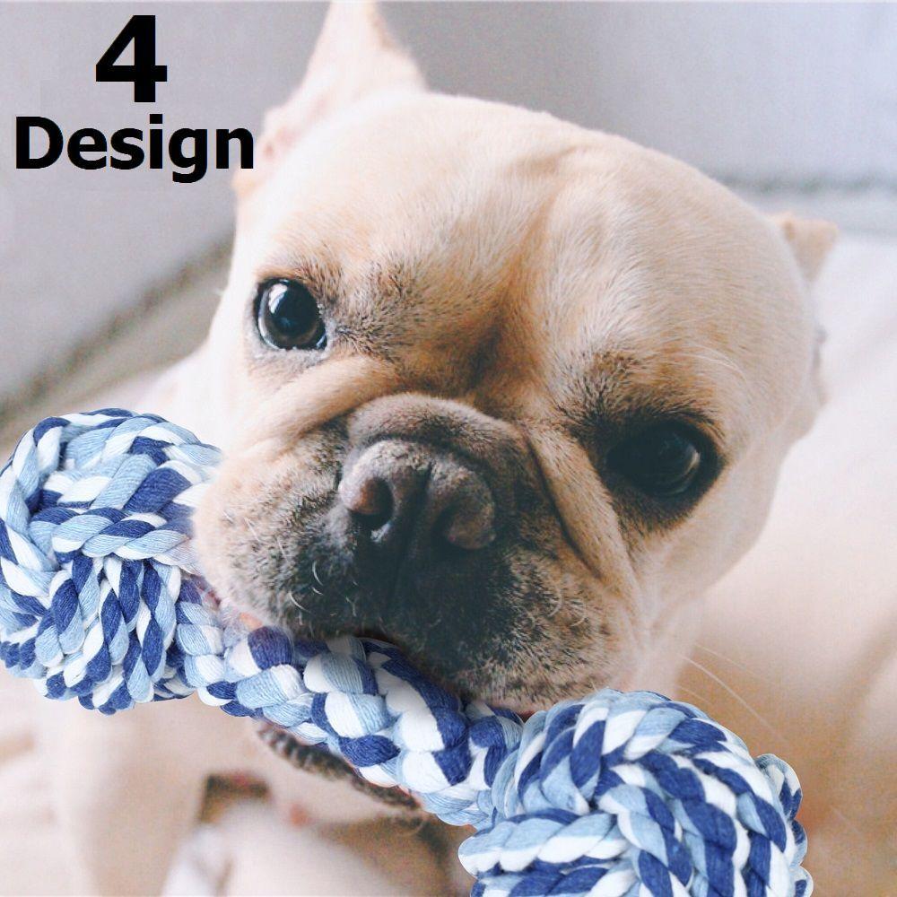 送料無料ペット用犬用ロープトイ縄球体ダンベル型おもちゃロープトーイストレス解消運動不足解消ストレス発