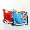 子供用 キャリーケース 乗って遊べる ハンドル付き スーツケース トランク キャリーバッグ 旅行カバン カート 乗れる 車モチーフ コロコロ キッズ こども 子ども トラベルグッズ 旅行用品 かっこいい カッコイイ 赤 青