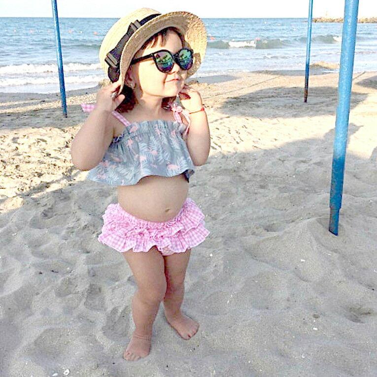 セットアップベビー女の子キャミソールベアトップチューブトップフリルオーバーパンツスカート付きフリルパ