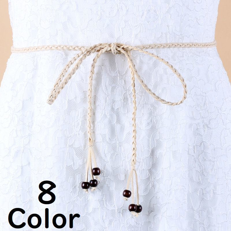 ベルト 紐ベルト 細い 女性 レディース おしゃれ 無地 上品 可愛い キュート 女 ガーリー ファッション 小物 ウエスト シンプル 編みこみ