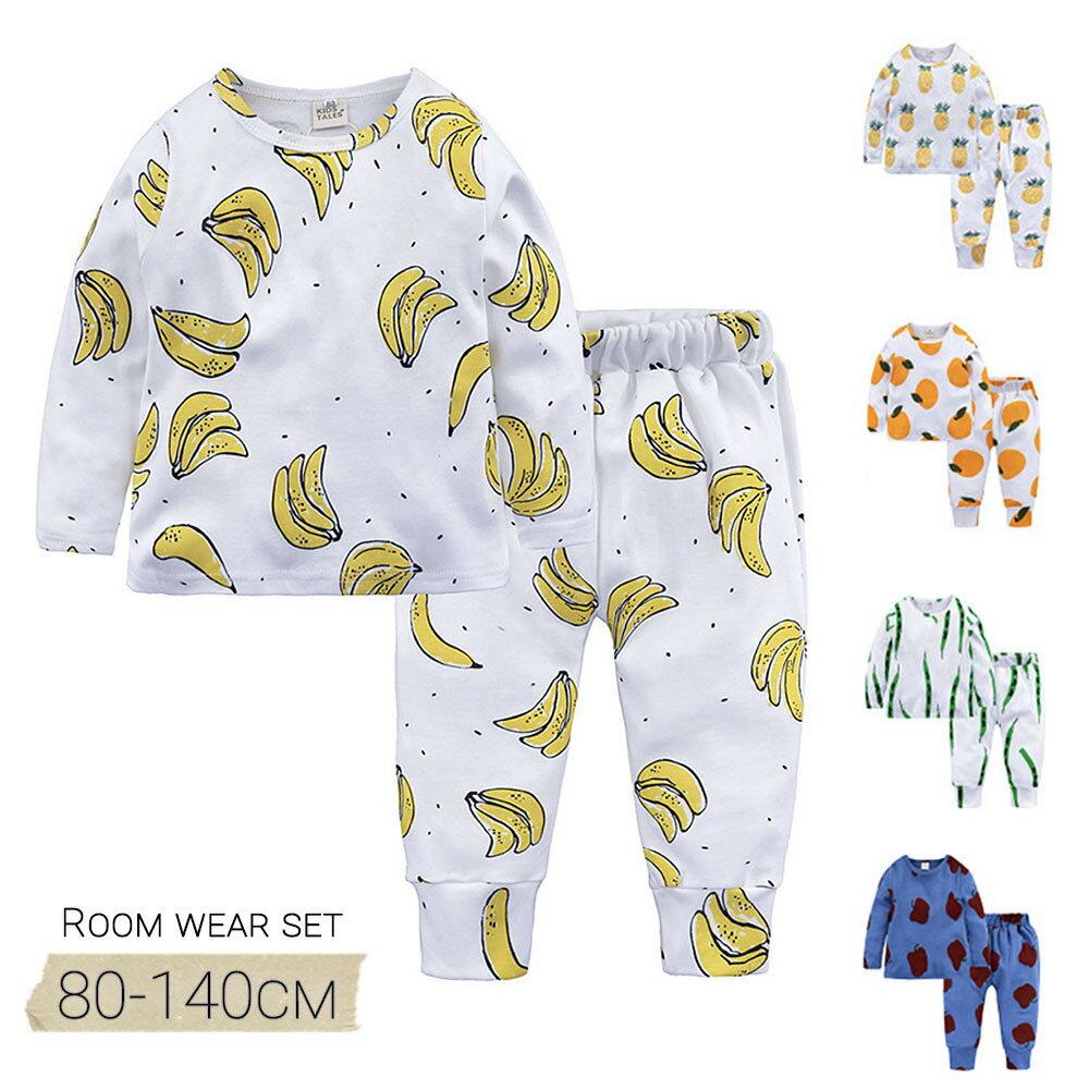 POP柄キッズパジャマTシャツ2点セットセットトップスボトムスズボン子供服キッズ服ベビー服男の子女の