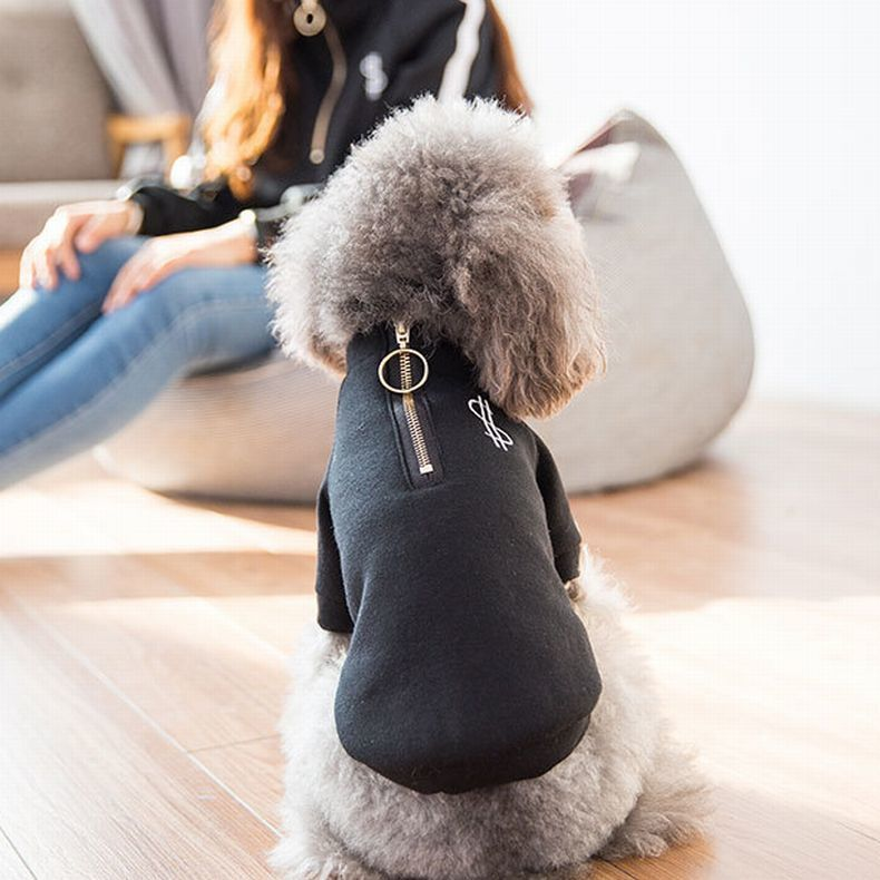 ドッグウエア犬服犬用トレーナートレーナー犬用小型犬用犬用品ペット用品袖ありファスナージッパードル$ロ
