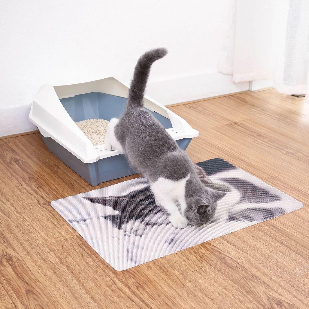 猫用砂取りマット猫砂マット猫トイレマットペット用品猫トイレ用品トイレタリー猫用猫砂飛散防止滑り止め清