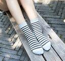靴下 くつした ソックス ショートソックス ボーダー レディース 可愛い カラフル くるぶし上 ショートソックス お洒落 綿