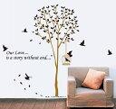 送料無料ウォールステッカー 壁紙 壁 ウォール シール 鳥 鳥かご 木 植物 はがせる 取り外し ルーム 部屋 寝室 子供部屋 リビング オフィス かわいい おしゃれ きれい ルームデコレーション インテリア 飾り付け