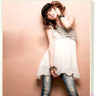 I am going to ship it on order about January 15 one shoulder ★ chiffon tops ★ no sleeve / frill ◎ today