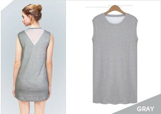 Clearance sale! I am going to ship it on order about July 28 [JN] back chiffon no sleeve tunic cut-and-sew tops ◎ today