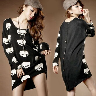 A scull pattern is going to ship it on order about January 21 long length knit so one piece mini monotone ◎ today