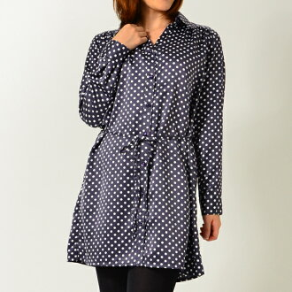Dot long sleeve shirt / tunic / dress: order today will ship 4/23