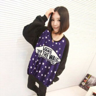Logo print X patterned stars, by colors dolman wet tops / ゆる silhouette