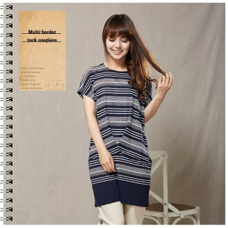 A multi-frill is going to ship it on order about October 6 short-sleeved tuck one piece tunic ◎ today