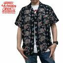 ショッピング半袖シャツ 半袖シャツ 40th レーヨンアロハシャツ sp-050 ブラック エンジェルフィッシュ STUDIO D'ARTISAN ステュディオ・ダ・ルチザン アメカジ ダルチ 日本製 40周年 限定 商品入れ替えの為、在庫処分!