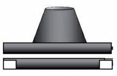 黒 ステンレス 角煙道用 フラッシング φ150mm用 No.X0258 ホンマ製作所 T野 D