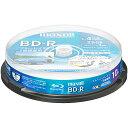Maxell BRV25WPE.10SP 録画用 BD-R 標準130分 4倍速 ワイドプリンタブルホワイト 10枚スピンドルケース