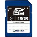 樂天商城 - 【送料無料】グリーンハウス GH-SDHC16G4F SDHCメモリーカード クラス4 16GB【在庫目安:お取り寄せ】