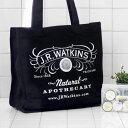 【あす楽17時まで】【メール便OK】 J.R.Watkins Reusable Bag ジェイアールワトキンス ショッパー バッグ [ エコバッグ ] トート トートバッグ コットン 【楽ギフ_包装】【楽ギフ_メッセ】 (S)