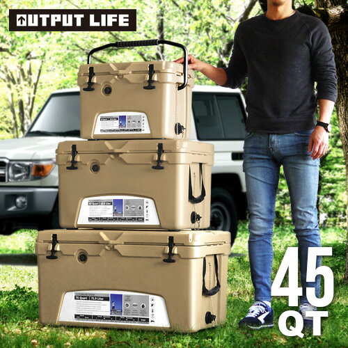 OUTPUT LIFE × ICELAND クーラーボックス 45QT