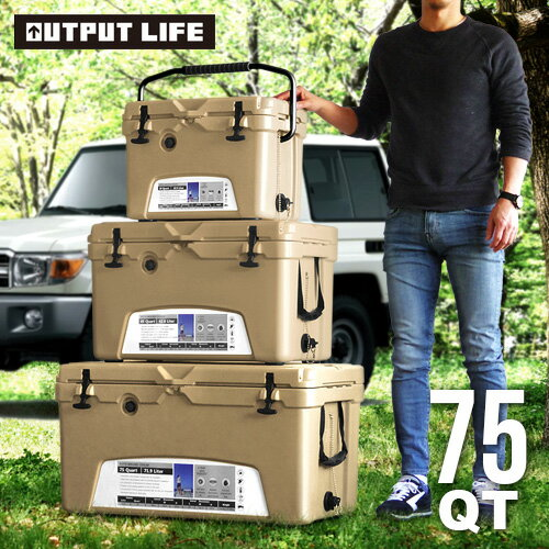 OUTPUT LIFE × ICELAND クーラーボックス 75QT