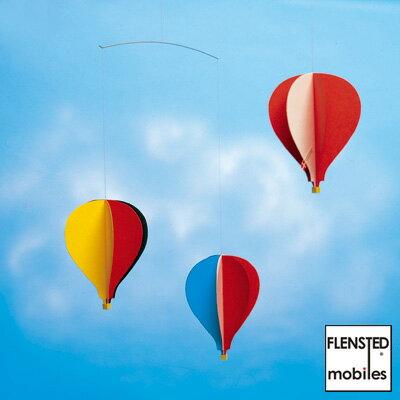 【あす楽14時まで】 Flensted mobiles フレンステッド モビール Balloon Mobile 3 《 Balloon 3 》 078A 気球 バルーン 北欧 インテリア 型紙 赤ちゃん キット デンマーク◇デザイン plywood オシャレ雑貨