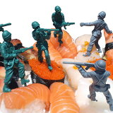 【到明天音乐18点】【运费80日元邮件投递OK】bitten Food Fighters set of 12 army men Party pieces 带帽衫火腿队聚会pick [士兵[【あす楽18時まで】【送料80円メール便OK】 bitten Food Fighters set of 12 army m