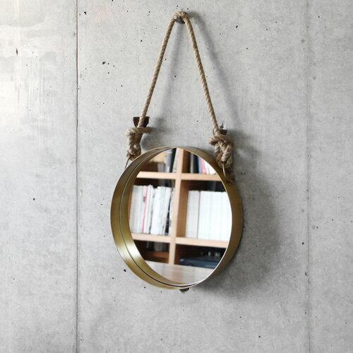 \MAX46倍/送料無料 鏡 ミラー 【あす楽14時まで】 ウォールロープミラー [ラウンド]Wall Rope Mirror Round【 鏡 壁掛け アンティーク 丸 玄関 インテリア 】【smtb-F】