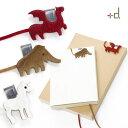 【メール便OK】【あす楽16時まで】 h concept +d.アニマルブックマーク Made with Fur