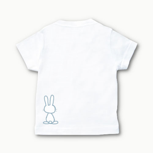 出産祝い 手描きTシャツ(うさぎ)名前入り 兄...の紹介画像2