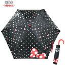 折りたたみ傘 Folding Umbrella ミニー/ビッグリボン Disney ディズニー キャラクター 耐風骨仕様 安全ろくろ付傘