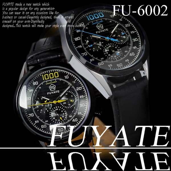 腕時計 自動巻 革バンド 24針 DAY&DATE 日付 曜日 ◇FU-6002