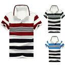 ショッピングポロシャツ メンズ ファッションカジュアル/メンズ ボーダー ポロシャツ 半袖 きれい目 彼氏 男性 men's