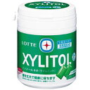 ロッテ キシリトールガムライムミント ファミリーボトル143g×6ボトル入(キシリトール