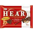 【送料無料】不二家15枚ハートチョコレート(ピーナッツ)袋12袋入【smtb-tk】※北海道は別途300円必要です。【2P_0118】