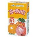 らくのうマザーズフルーツミックス250ml紙パック 24本入[フルーツ牛乳]