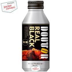 【400gサイズ】ドトールコーヒードトール ブラックコーヒー レアルブラック400gボトル缶 24本入[REAL BLACK 無糖 ボトル缶コーヒー]