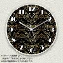 MYCLO マイクロ 壁掛け時計 アクリル素材 クリア 丸型 23cm エレガント ブラック com1599