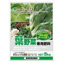 葉を食べる野菜に最適 有機入り 葉野菜専用肥料 5kg 2袋セット