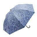 ショッピングモード Fair mode 晴雨兼用長傘 58cm ペイズリー SJ-1911 ブルー
