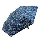 ショッピング折りたたみ傘 Fair mode 晴雨兼用 折りたたみ傘 50cm mini ペイズリー SM-1911 ネイビー